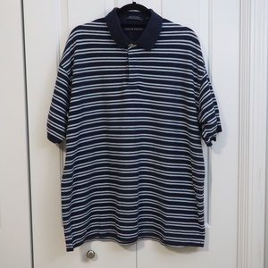 Tommy Hilfiger Striped Polo Shirt Navy Blue White